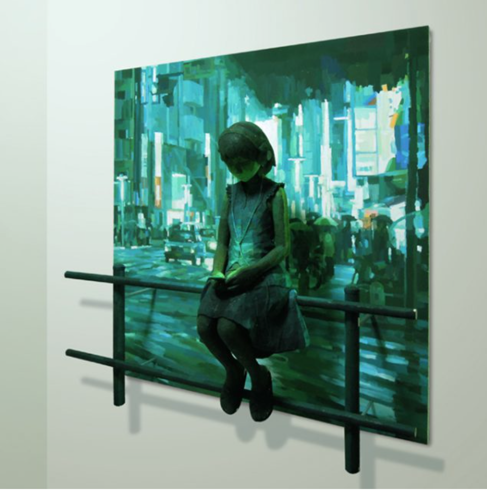 "Shintaro OHATA provided his art work for the cover of Italian edition of ""Tokyo soundtrack"",a novel by Hideo Furukawa."