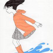 「水たまりジャンプ」