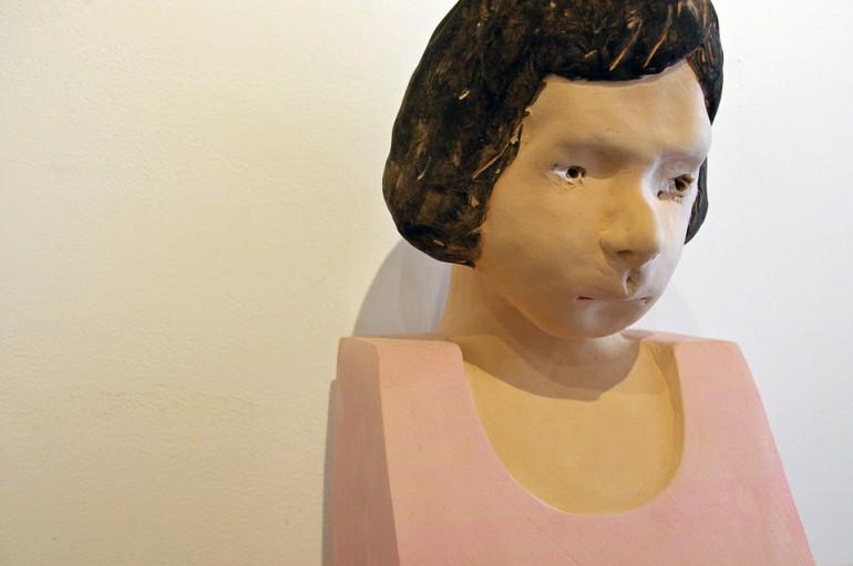 「少女」/ ''a girl'', 2010, ceramic based sculpture