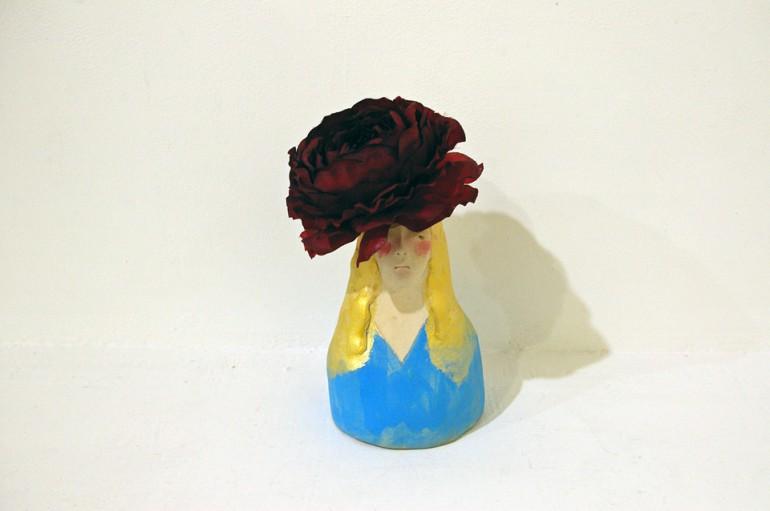 「水色の女」/ ''a woman with light blue'', 2010, ceramic based sculpture
