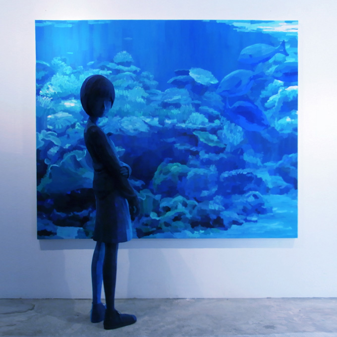 「水族館」/ ''Aquarium'', 2010, panting, polystyrene based sculpture