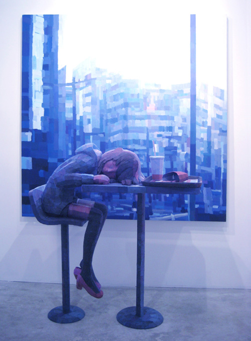 「アジサイ」/ ''HydrangeaI'', 2009, panting, polystyrene based sculpture
