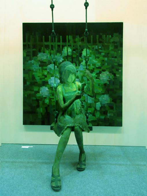 「ホタル」/ ''Firefly'', 2008, panting, polystyrene based sculpture