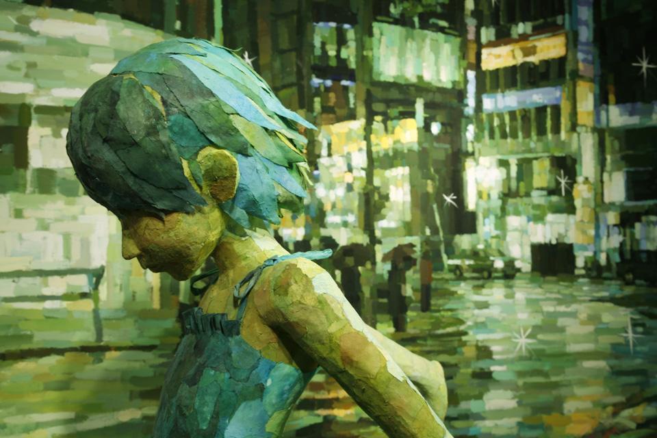 「ひこうき」部分/ ''Airplane''detail, 2007, panting, polystyrene based sculpture