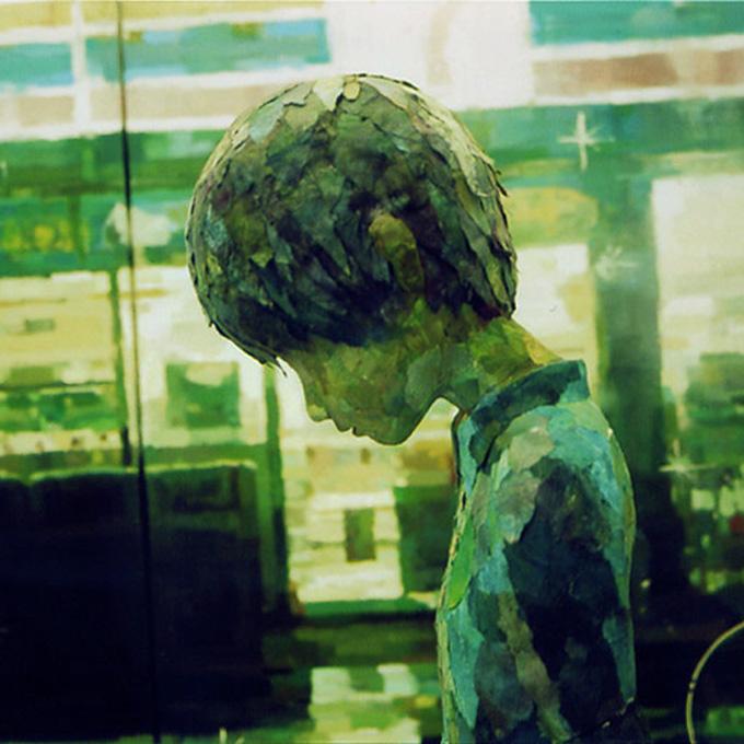 """「星空」部分/ """"starry sky""""detail, 2006, panting, polystyrene baure"""