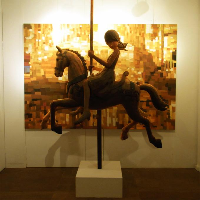 ''loop'', 2010, panting, polystyrene based sculpture