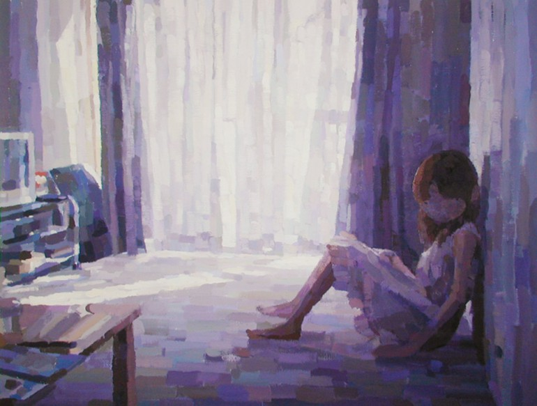 「何もない部屋」/ ''An empty room'', 2007,  acrylic on canvas