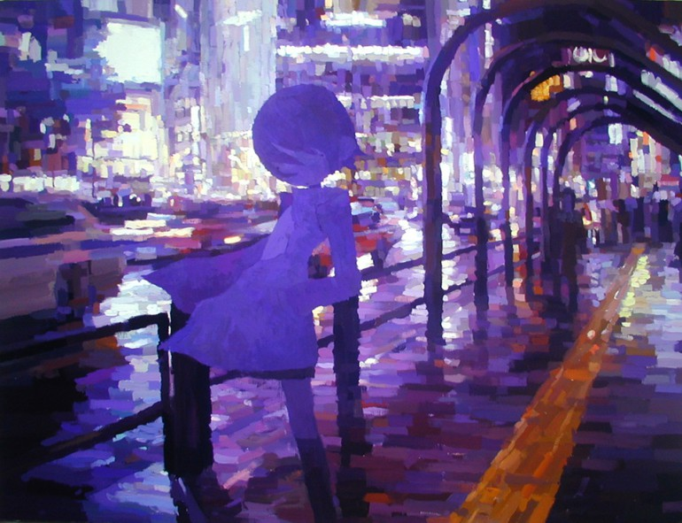 「一本道」/ ''One Road'', 2008,  acrylic on canvas