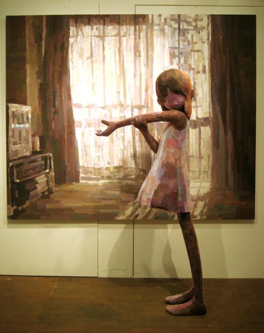「プリズム」/ ''Prism'', 2007, panting, polystyrene based sculpture