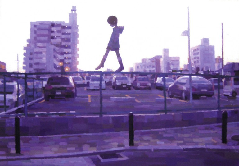 「さんぽ道」/ ''SANPOMICHI -hanging around-'', 2007,  acrylic on canvas