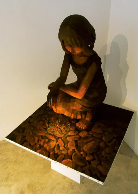 「線香花火」/ ''sparkling firework'', 2010, panting, polystyrene based sculpture