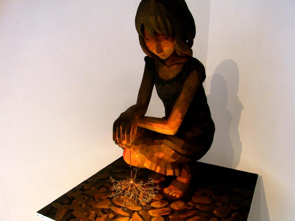 「線香花火」部分/ detail''Sparklers'', 2010, painting, polystyrene based sculpture