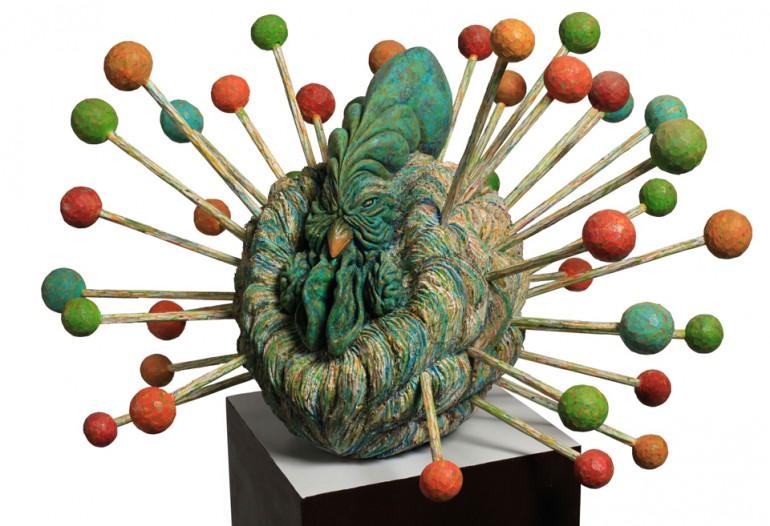 「五月雨のワルツ」/ ''waltz of early summer rain'', 2009, wood based sculpture