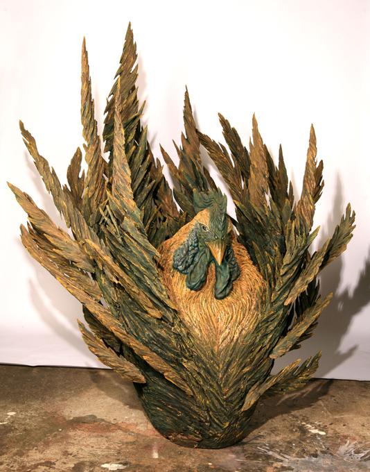 「氷天華」/ ''HYOTENKA~below zero~'', 2009, wood