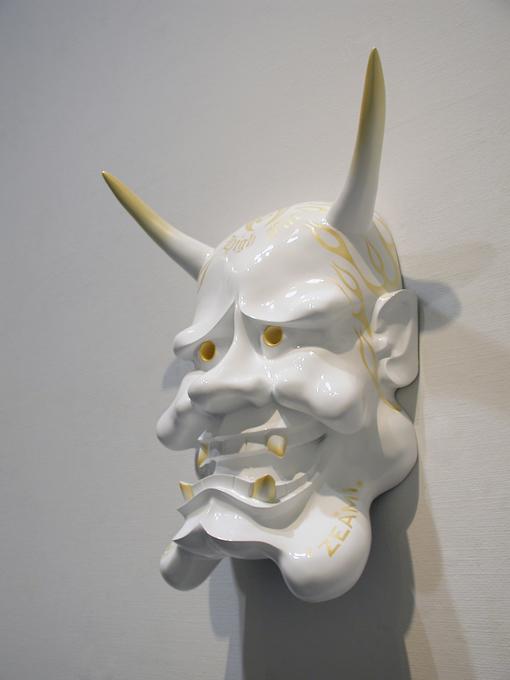 「たれはんにゃ」/ ''Flabby Hannya'', 2007, FRP based sculpture