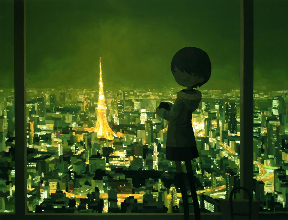 「東京タワー」/ ''Toyko tower'', 2012, acrylic on canvas