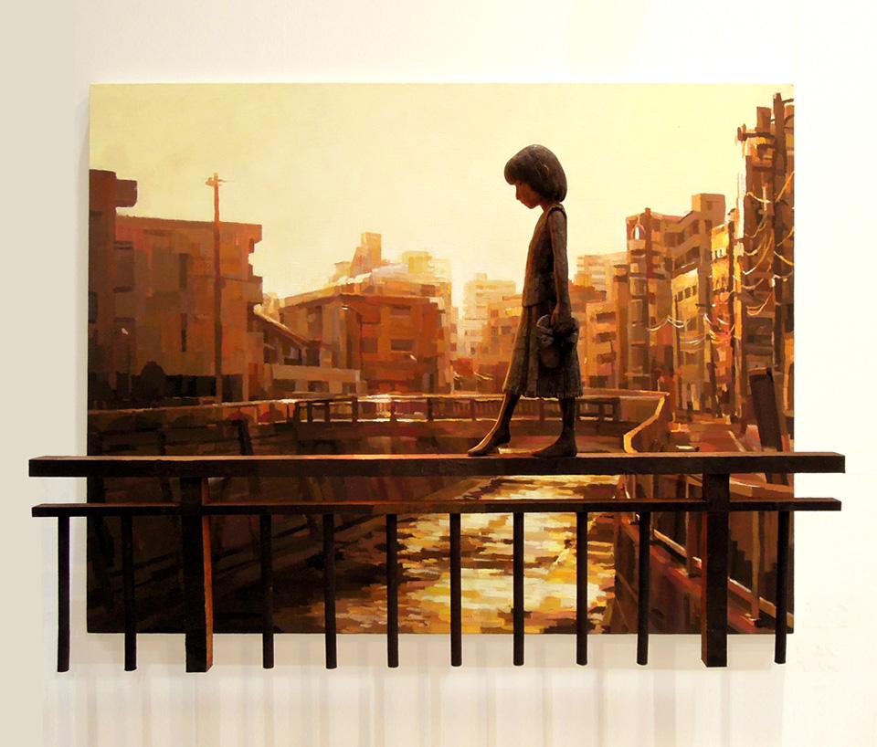 「歩く」/ ''walking'', 2012, panting, polystyrene based sculpture