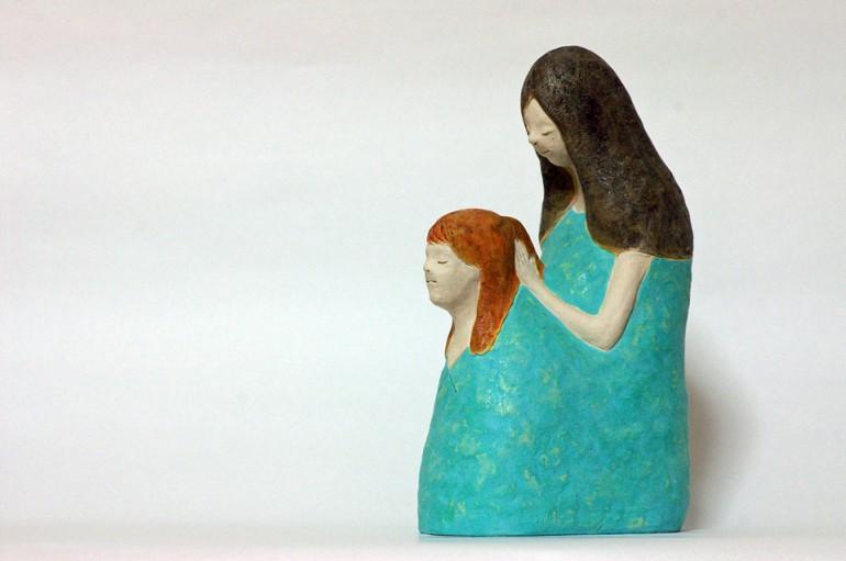"""「毎朝」/ """"every morning"""", 2012, ceramic based sculpture"""
