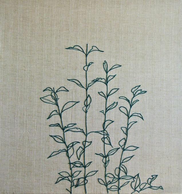 """「 あした 」/""""Rising"""", 2012,wool,mixed fabrics"""