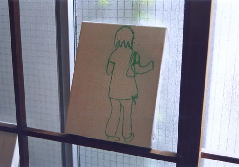 """「おんなの子」 / """" girl """", 2005, oil on canvas"""