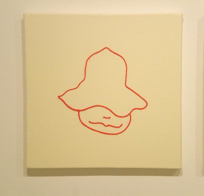 """「鈴」/ """"Tink"""", 2008, wool,oil,canvas"""