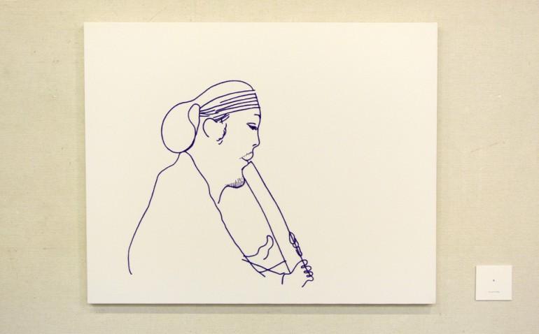 """「奏」/ """"May vibes"""", 2009, wool,acrylic,canvas"""