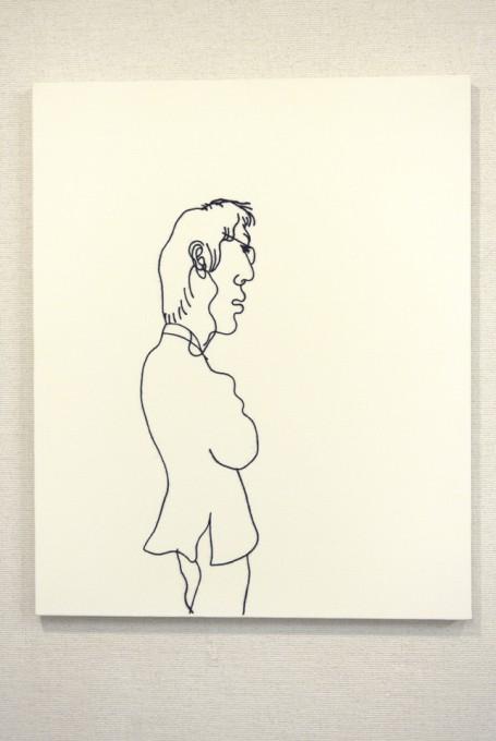 """listen"", 2008, wool,acrylic,canvas"