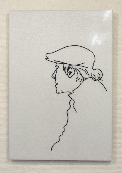 """「大阪南港」 / """"South Bay,Osaka"""", 2009, yarn on clothed mirror"""