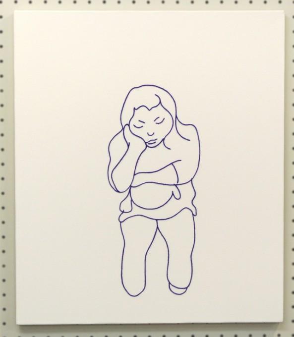 """「そらに」/""""someone"""",2009,wool,acrylic,canvas"""