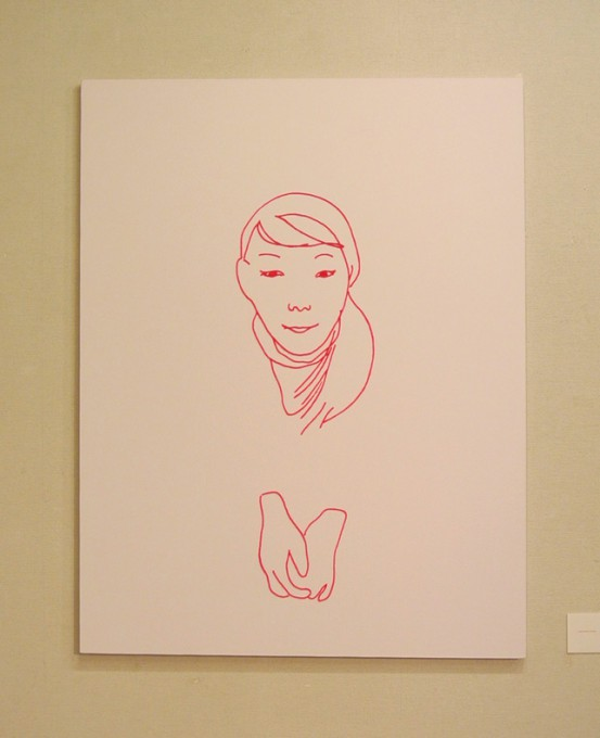 """ welcome home "" , 2009,yarn,acrylic,canvas"
