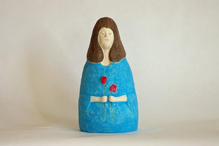 """「花とゆめ」/ """"a flower and dream"""", 2012, ceramic based sculpture"""