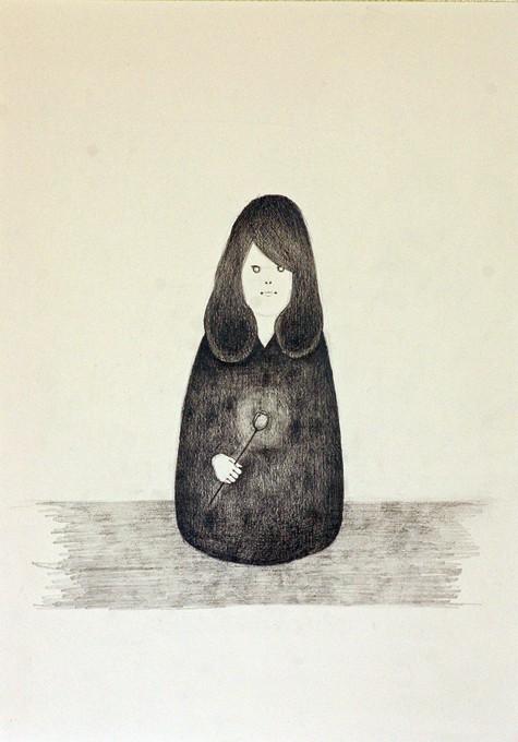 """「心の花」/ """"flower of heart"""", 2012, pencil on paper"""
