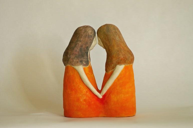 """「祈る人々」/ """"prayers"""", 2012, ceramic based sculpture"""