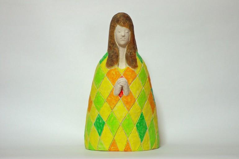 """「祈る人Ⅰ」/ """"prayer"""", 2012, ceramic based sculpture"""