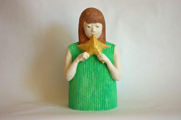 """「星になりたい」/ """"I want to be a star"""", 2016, ceramic based sculpture"""