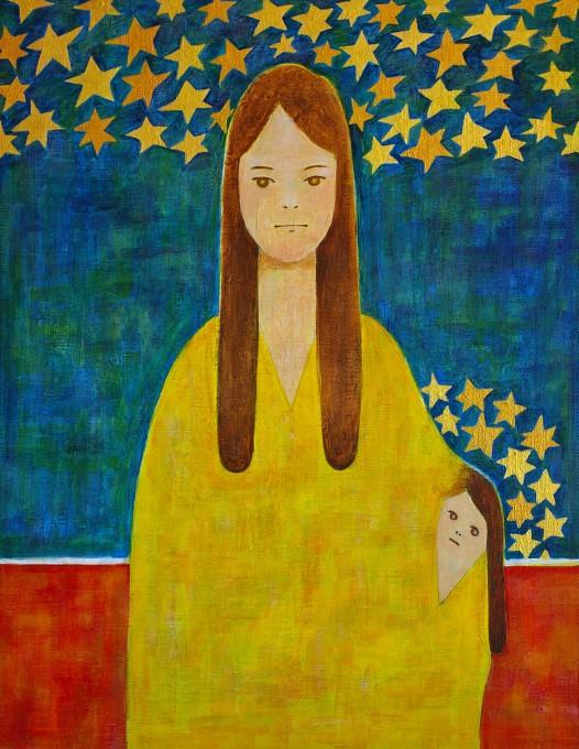 """「母と子」/ """"mother and child"""", 2016, acrylic on canvas"""