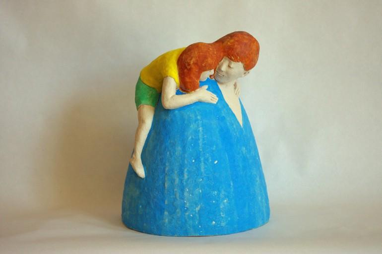 """I love mommy"", 2016, ceramic based sculpture"