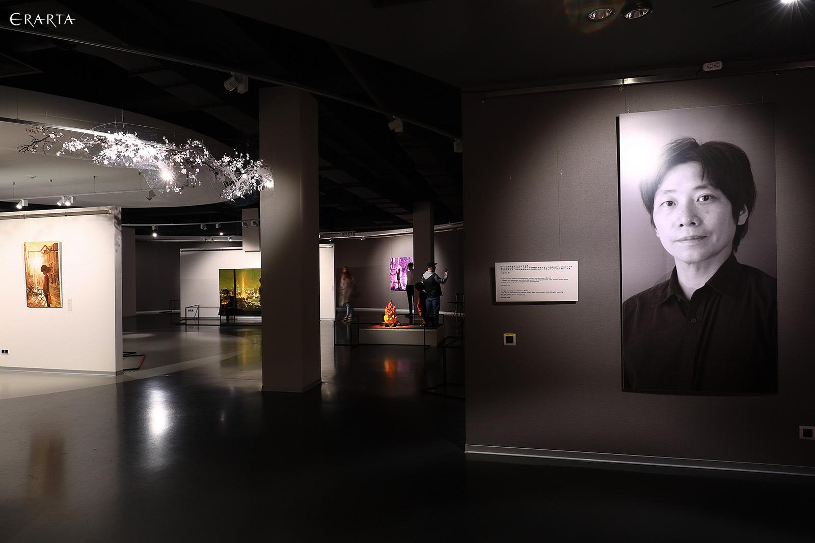ERARTA美術館(サンクトペテルブルグ)での大畑展、展示風景